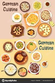 german cuisine menu german cuisine dinner icon set for menu design stock vector