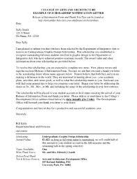 architecture design scholarship letter fill online printable