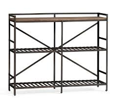 Metal Bookcase Open Metal Wood Bookcase