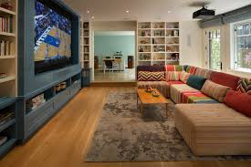 Family Tv Room With Modular Sofa Family Room Contemporary And - Family room rugs