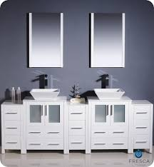 Fresca Torino FVNWHVSL Modern Double Sink Bathroom - Bathroom vanities double sink 2