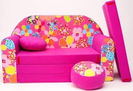 sofa für kinderzimmer kinder sofabett und fuβschemel und kissen pink 16 stück