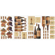 Wall Stickers For Home Decoration by Roommates Wine Tasting Peel And Stick Wall Decals Walmart Com