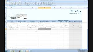 Tax Write Off Spreadsheet Irs Compliant Mileage Log Tutorial Youtube