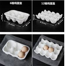 ceramic egg tray 12 2017 contemporary 12 grids white ceramic egg tray holder egg cups