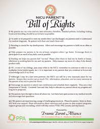 Responsibilities Of A Neonatal Nurse Nicu Parent U0027s Bill Of Rights Preemie Parent Alliance