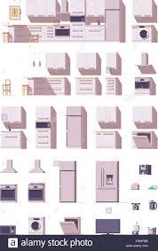 kitchen cabinet cartoon stock photos kitchen cabinet cartoon vector kitchen equipment and furniture set stock image