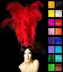 samba red fury ostrich headdress mardi gras headdress samba