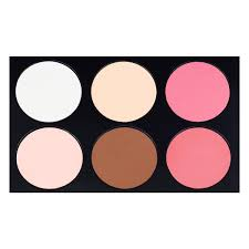 combination of colors amazon com coastal scents 6 color contour blush highlighter