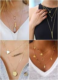 multi gold necklace images Stunning casual look gold or silver multi layered necklace style jpg
