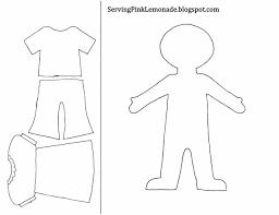printable paper doll template for kids kids printable cowboy