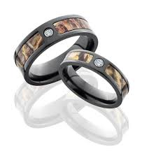 camo wedding ring sets for him and his and black zirconium realtree ring set camo wedding camo