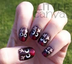 reindeer nail art the little canvas