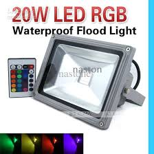 24 key color change 20w rgb led flood light led bright high power 85