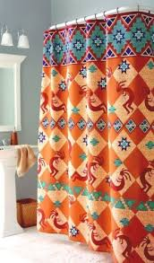 Southwest Shower Curtains Kokopelli Southwest Indian Bath Fabric Shower Curtain Home Trends