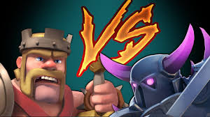 clash of clans pekka vs king duel to the death youtube