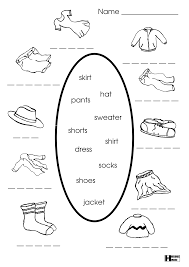 Esl Vocabulary Worksheets Clothing And Colours Worksheet Esl Learning Pinterest