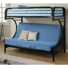 Bunk Bed With Sofa And Desk Metal Bunk Bed Frame With Futon Silver And Blue Home Beds Decoration