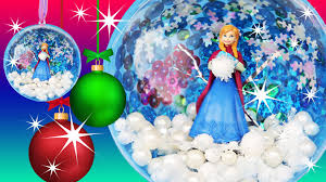 frozen anna snowball ornament make your own christmas decoration