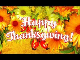 happy thanksgiving and god bless you always