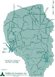 fayette county maps water system water system map