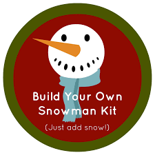 whimsy love diy build your own snowman kit
