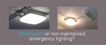 unit equipment emergency lighting maintained or non maintained emergency lighting commulite