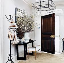 iron and glass lantern transitional entrance foyer thom filicia
