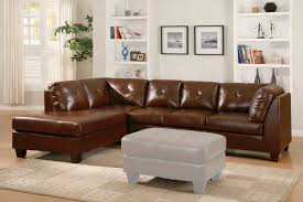 Brown Leather Sectional Sofas by Chic Design Ideas Using Round White Hanging Pendants And L Shaped