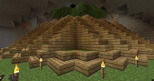 Minecraft Stairs Design Pyramid Shaped Corner Stair Design Survival Mode Minecraft