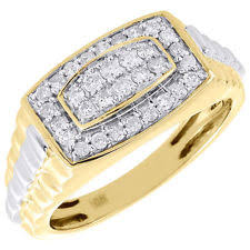 mens gold diamond rings men s diamond rings ebay