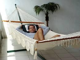 playa large bar hammock hamaca with crochet borders spreader
