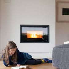 pellet fireplace contemporary closed hearth built in vivo