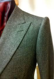 davide taub mid grey herringbone flannel db 2 piece suit w high