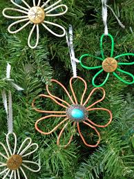 how to make flower shaped ornaments diy