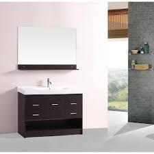Bathroom Vanity And Sink Combo Inch Wall Mounted Single Espresso Wood Bathroom Vanity Include