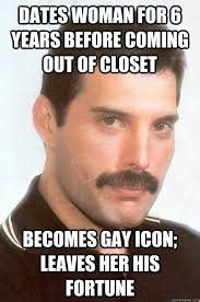 Closet Gay Meme - dates woman for 6 years before coming out of closet becomes gay icon
