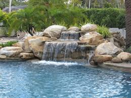 rock waterfalls for pools pool rock waterfall ideas backyard garden pinterest rock