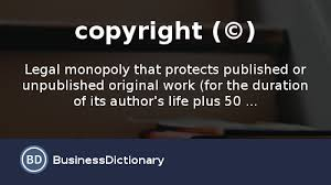 what is a copyright definition and meaning
