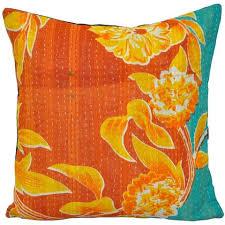 vintage kantha quilted throw pillows vintage kantha pillows