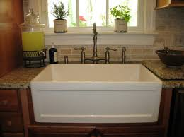 Kitchen Sinks And Faucets by Interior Design White Apron Sink With Graff Faucets For Modern