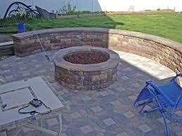 home design backyard brick fire pit ideas modern large brilliant