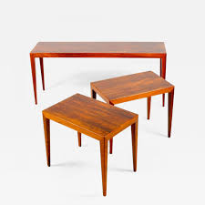 Hansen Patio Furniture by Severin Hansen Nest Of Tables In Rosewood By Haslev Furniture