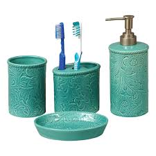 turquoise bath accessory sets turquoise bathroom accessories to