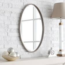 White Framed Bathroom Mirrors White Framed Oval Bathroom Mirror Best Bathroom Decoration