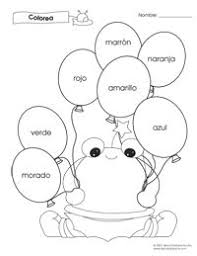 free kindergarten spanish worksheet printables use the spanish
