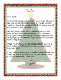 santa claus letters from santa claus acknowledging receipt of letter from child