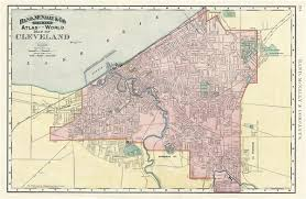 map of cleveland map of cleveland geographicus antique maps
