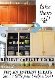 Ideas To Update Kitchen Cabinets Take Them Off Remove Cabinet Doors Kitchen Cabinet Doors