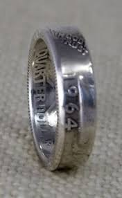 52nd wedding band 1964 90 silver us quarter dollar coin ring wedding band 52nd